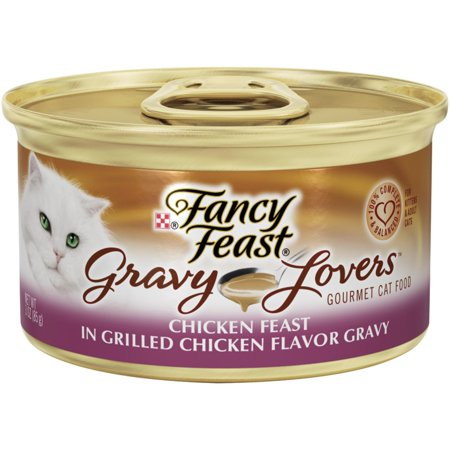 (24 Pack) Fancy Feast Gravy Lovers Chicken Feast in Grilled Chicken Flavor Gravy Wet Cat Food, 3 oz. Cans (Fancy Feast Cat Food In Gravy)