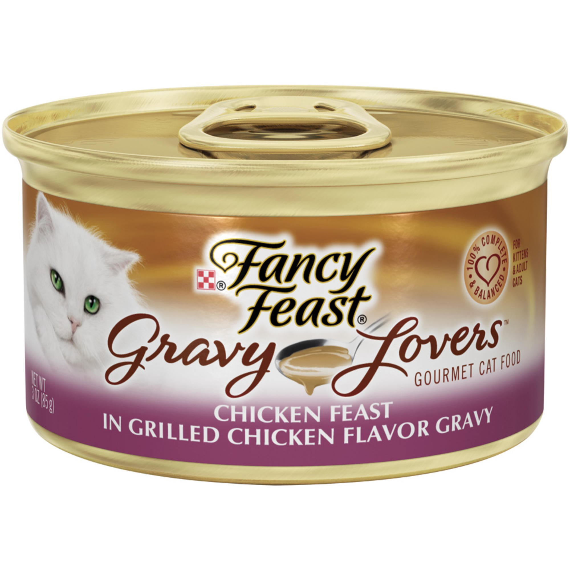 Purina Fancy Feast Gravy Lovers Chicken Feast in Grilled Chicken Flavor Gravy Wet Cat Food- (24) 3-oz Cans