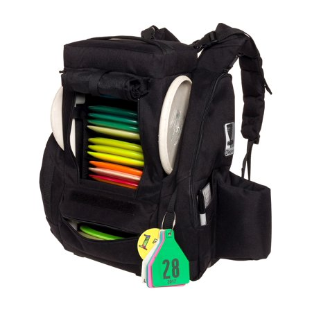 Fusion Pro 25 Disc Capacity Disc Golf Frisbee Backpack Bag w/ Built-In Seat ()