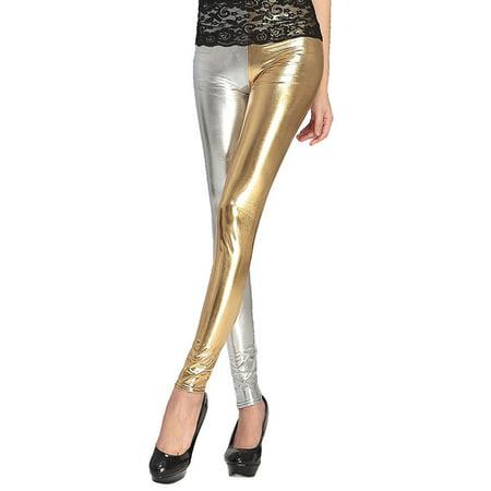 Simplicity High Waist Skinny Legging Pencil Pants Trousers Yellow/Light Grey Simplicity Misses Pants