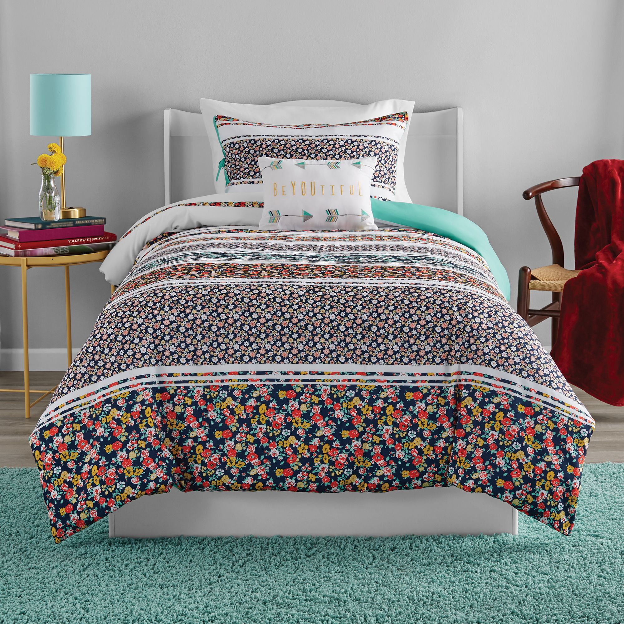 mainstays dual duvet cover bedding set with comforter filler