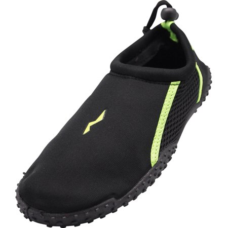 7cd8a3261 NORTY Young Mens Aqua Sock Wave Water Shoes - Waterproof Slip-Ons For Pool