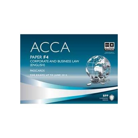 Acca - F4 Corporate and Business Law (English) : Passcards - Walmart com