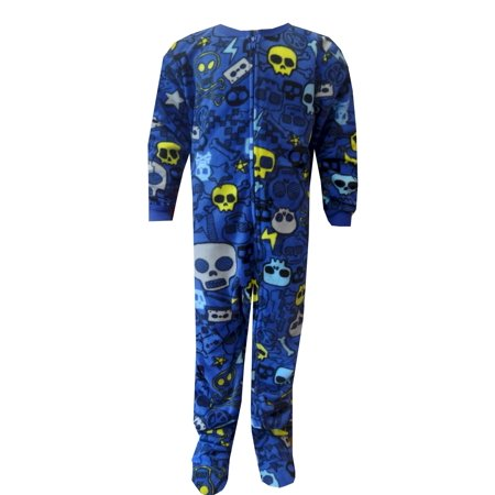 9a773403db87 Komar Kids - Skulls Fleece Footie One Piece Pajamas - Walmart.com