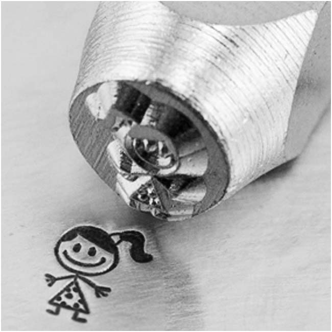ImpressArt Metal Punch Stamp Little Girl 'Sara' 6mm (1/4 Inch) Design - 1 Piece