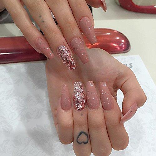 Makartt 500pcs Coffin Nails Clear Ballerina Nail Tips Full Cover