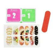 5 Sets Glitter Adhesive Full Cover Nail Stickers DIY Nails Art Tip