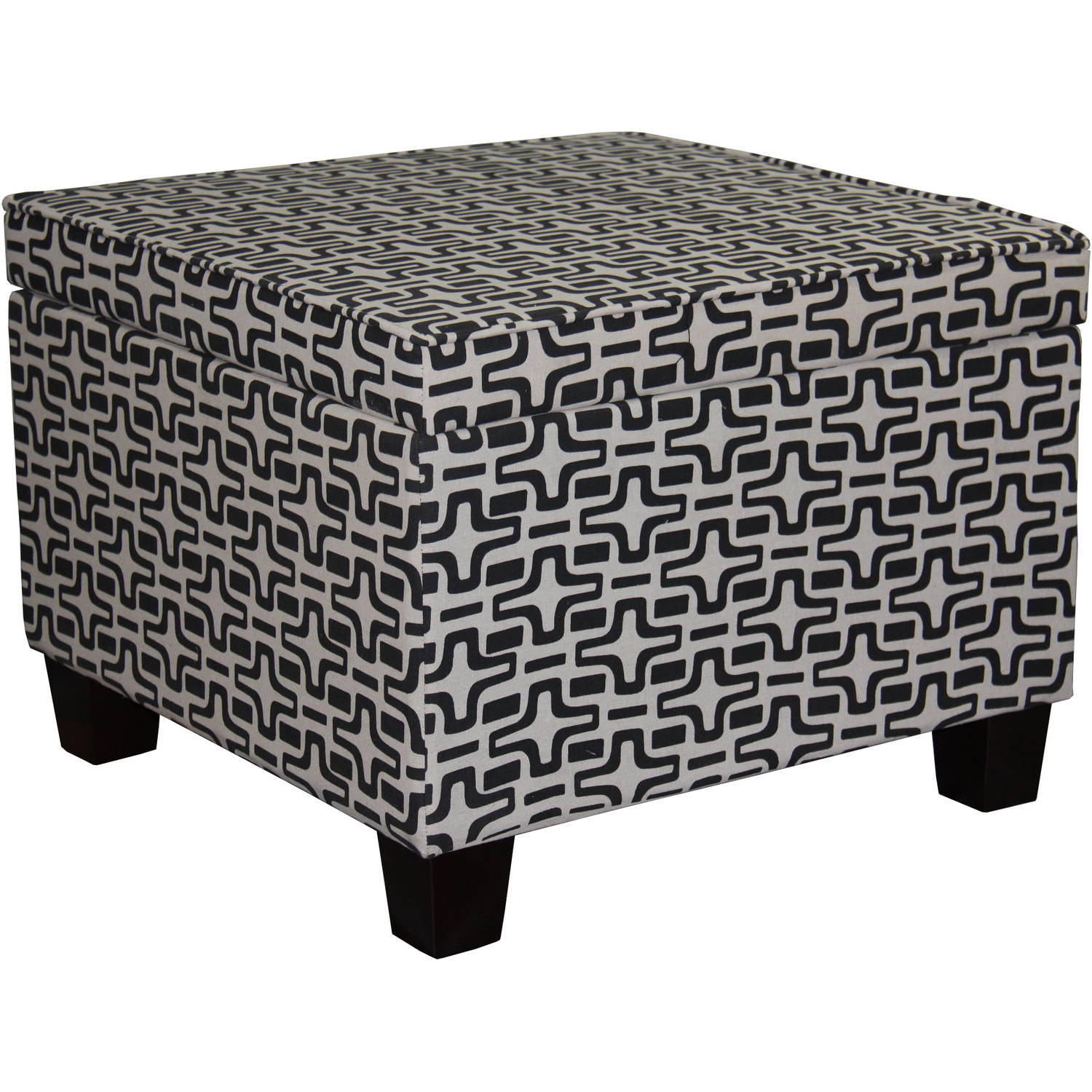 "18""H Geometric Star Storage Ottoman"