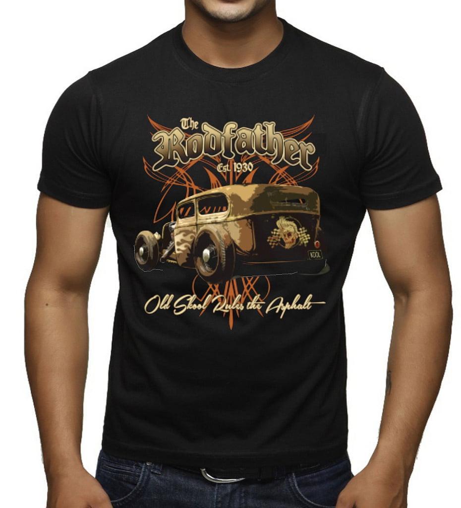 Interstate Apparel Inc Mens The Rodfather Old Skool Rules Black Tank Top Black