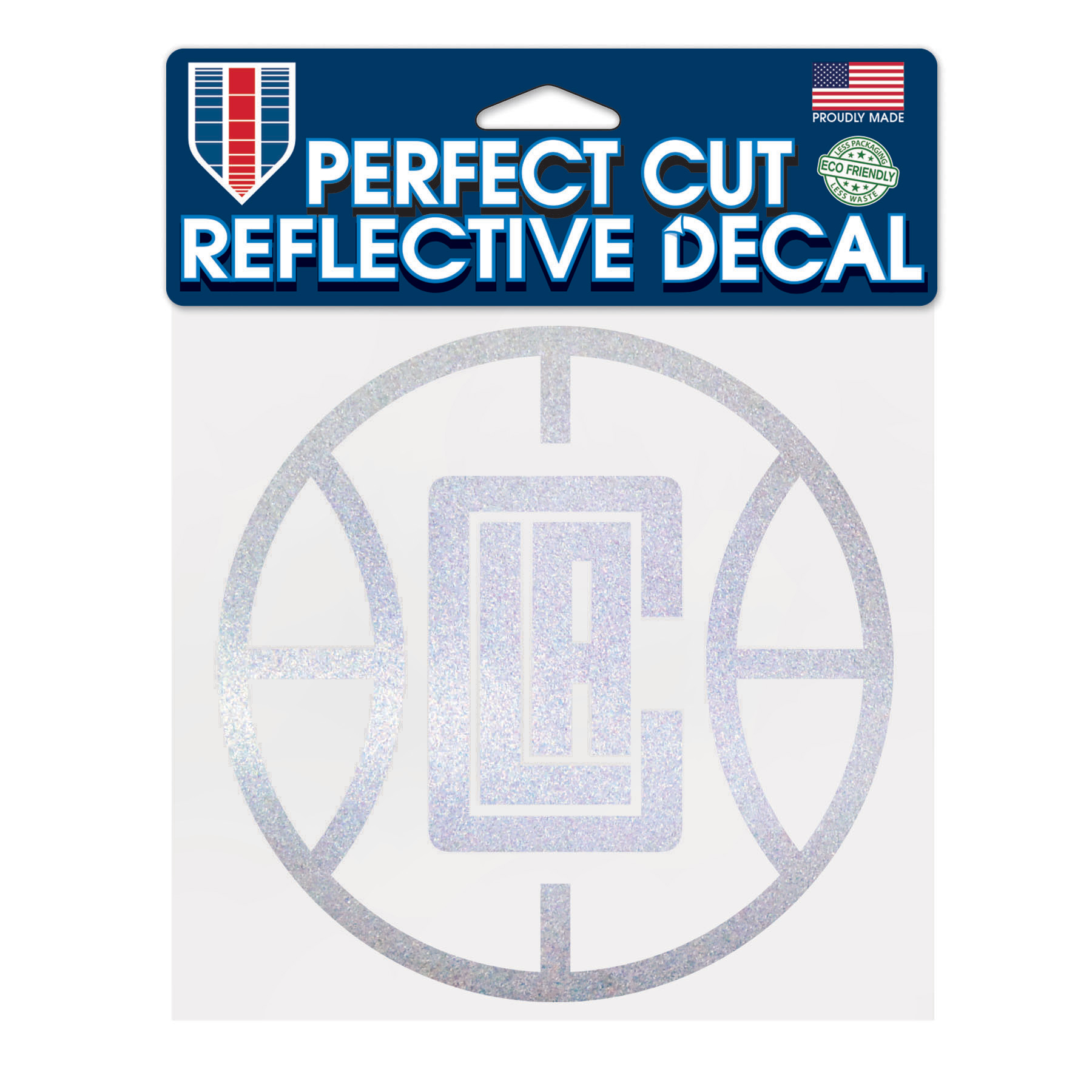 """LA Clippers WinCraft 6"""" x 6"""" Reflective Perfect Cut Decal - No Size"""
