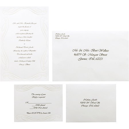 Wilton Wedding Scroll Invitations 50 Count