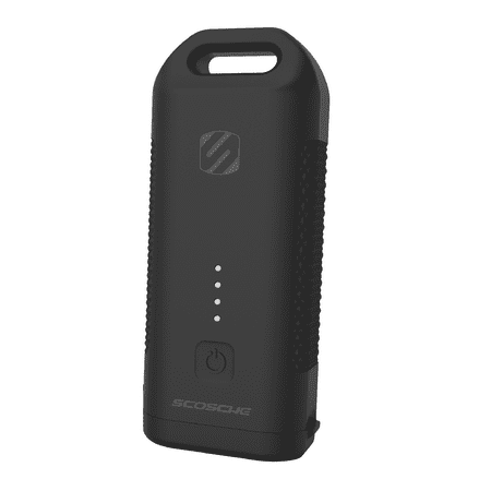 SCOSCHE HDPB5 GoBat 5,200 mAh Rugged 12W Heavy-Duty Portable Battery Pack with Built-in Flashlight and 1-ft. micro-USB Cable - Black ()
