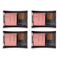 Maybelline Fit Me! Blush, #306 Deep Coral (Pack of 4) + Makeup Blender Stick, 12 Pcs
