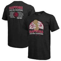 Toronto Raptors Majestic Threads 2019 NBA Finals Champions Roster Tri-Blend T-Shirt - Black