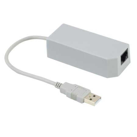 SANOXY New LAN Network Adapter Connector USB Internet Ethernet For Nintendo Wii / Wii -