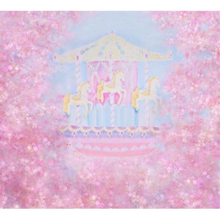 GreenDecor Polyester Fabric Hazy Pink Photography Background Bundle Flowers Photo Background Baby Shower Party Backdrop for Girls 5x7ft Amusement Park Birthday Banner Backgrounds](Baby Girl Background)