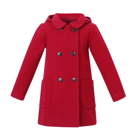 - Richie House Girls' Wool Double-Breasted Jacket RH2517
