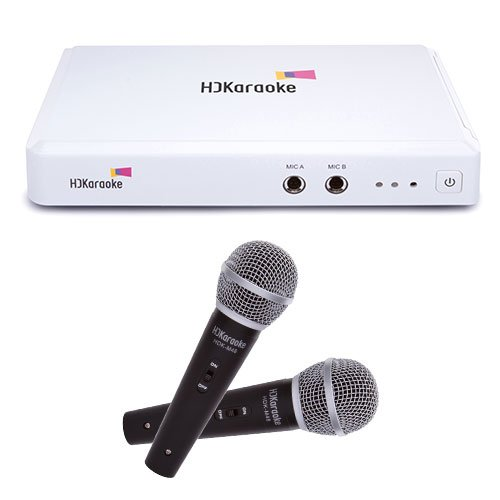 HDK Box 2.0 Internet-Enabled Streaming Karaoke Machine with Two Microphones Bundle