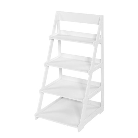 WALFRONT 4 Tier Storage Racks and Shelving Fashionable Ladder Type Plant Stand for Home Kitchen Bathroom Bedroom Office 4 Tier Shelf Rack