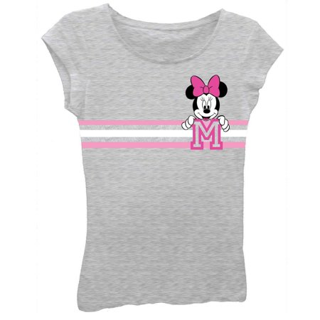 b06d5ae002a69 Minnie Mouse Girls T-Shirt - Cute Disney Shirts for Girls Kids (Heather  Grey, Small) - Walmart.com