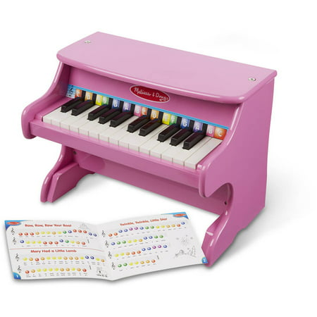 Melissa & Doug Learn-to-Play Pink Piano with 25 Keys and Color-Coded Songbook Play Piano Today Songbook