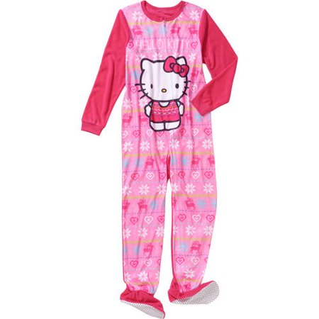 Komar Kids Big Girls' Hello Kitty Fleece Blanket Sleeper