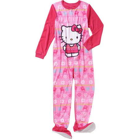 Komar Kids Big Girls' Hello Kitty Fleece Blanket Sleeper