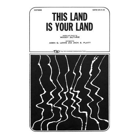 TRO ESSEX Music Group This Land Is Your Land TTBB Arranged by Jack E.