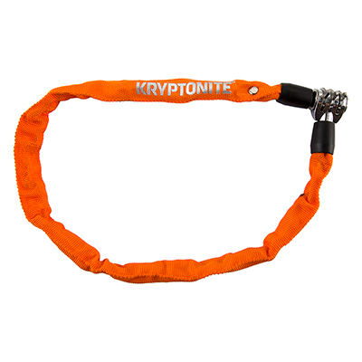 Kryptonite Keeper 465 Chain Lock with 3-Digit Combo 2.13/' x 4mm Orange