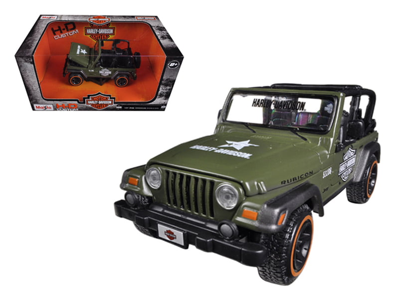 Jeep Wrangler Rubicon Harley Davidson Orange-Black 1-27 Diecast Model by Maisto by Maisto International Inc