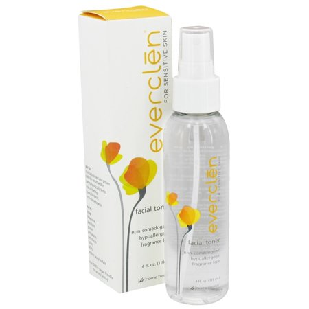Sensitive Skin Toner - Everclen - Facial Toner For Sensitive Skin Fragrance Free - 4 oz.