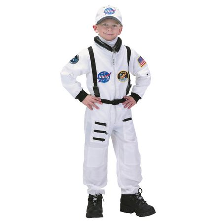 Aeromax ASWA-810 8 by 10 Apollo 11 Junior Astronaut Suit with Embroidered Cap - White