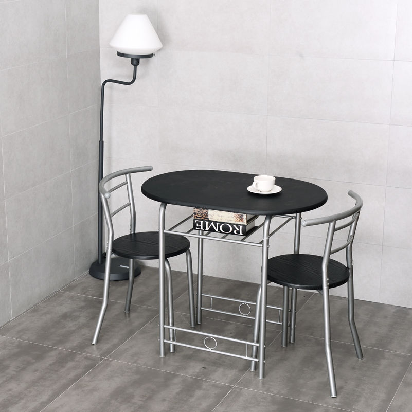 Costway 3 PCS Bistro Dining Set Table And 2 Chairs Kitchen Furniture Pub  Home Restaurant