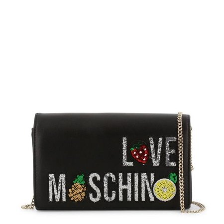 Love Moschino JC4297PP07KL-0000-Black-NOSIZE Womens Synthetic Leather Magnetic Crossbody Bag - Black - image 1 of 1