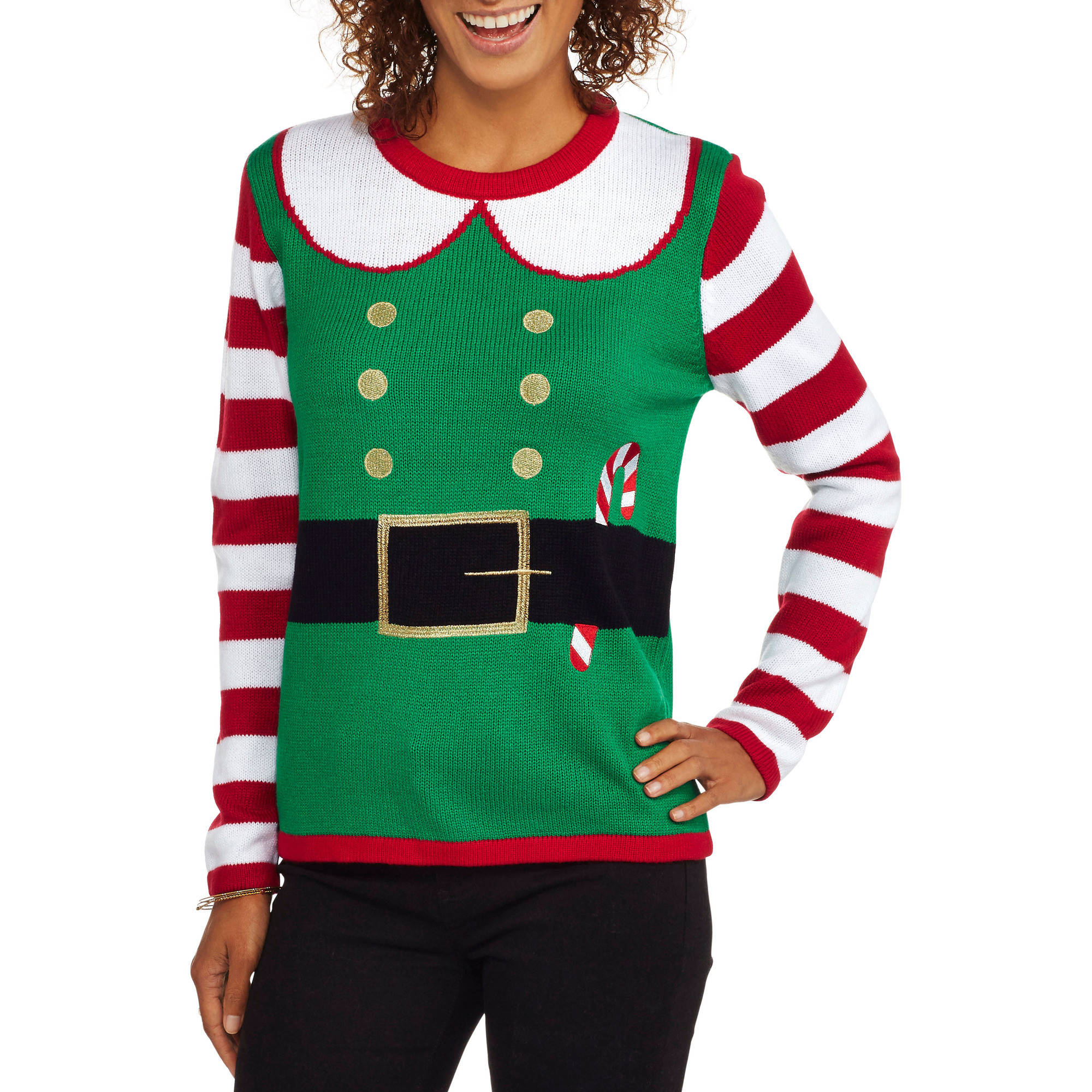 "Holiday Time Women's Christmas Sweater - ""Santas Helper"""