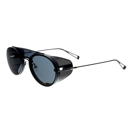 Max Mara MM BRISEIS 0003 IR Matte Black Round Side Shield Sunglasses