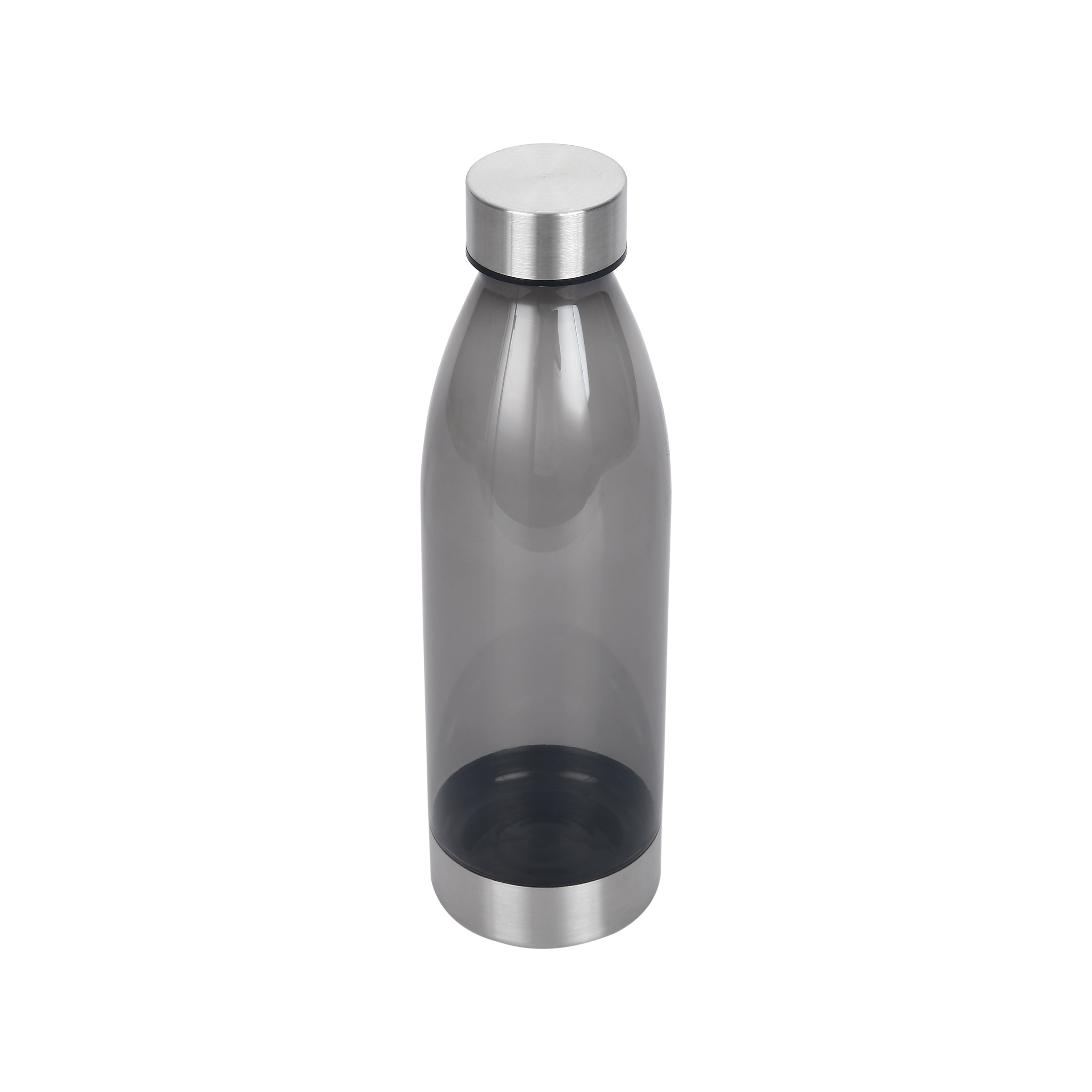 Mainstays 22oz Water Bottle with Stainless Steel Lid and Base - Grey