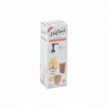 - Davinci Gourmet Salted Caramel W/Pump, 470 Milliliter (6 Pack)