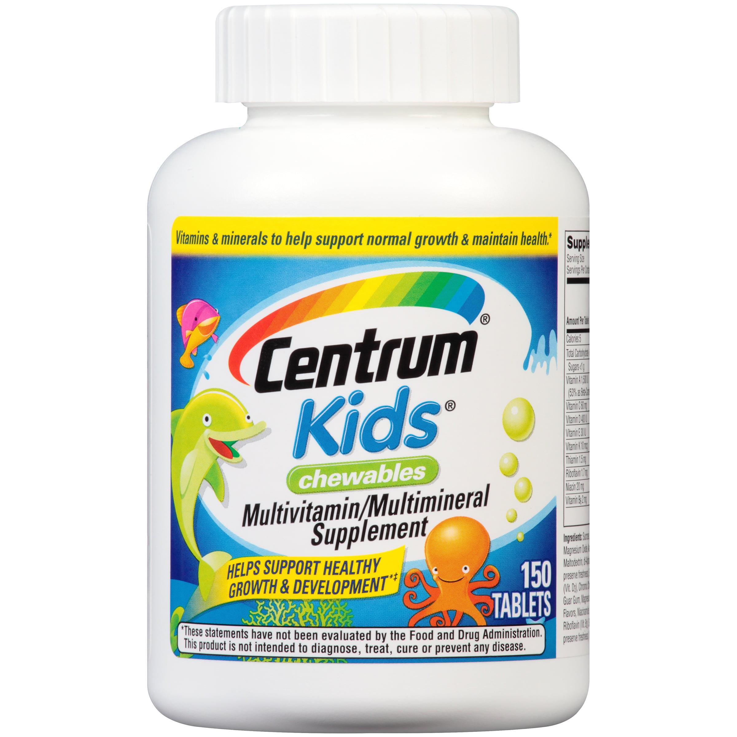 Centrum® Kids® Chewable Multivitamin/Multimineral Supplement 150 ct Bottle