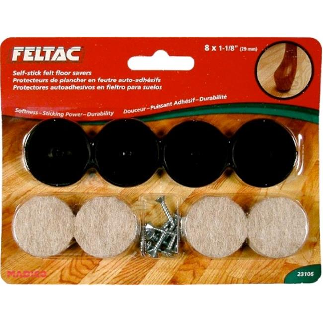MADICO Feltac - Round and Mounting Disc Heavy Duty Self Adhesive Felt Pads 10 Pa