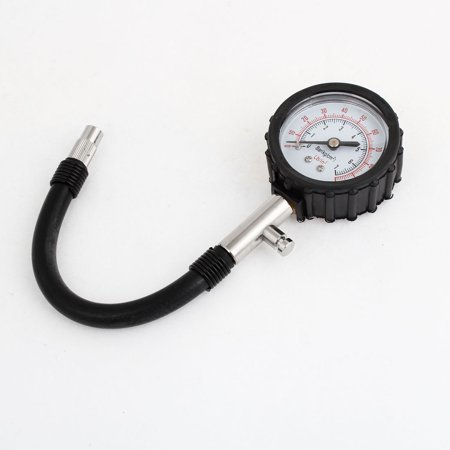 Car Tyre Tire Air Pressure Measure Gauge Black Silver Tone 0-7 (Best Tire Air Gauge)