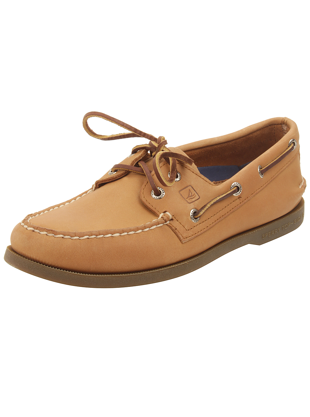 Sperry Mens A/O 2-Eye Boat Shoes in Sahara Leather