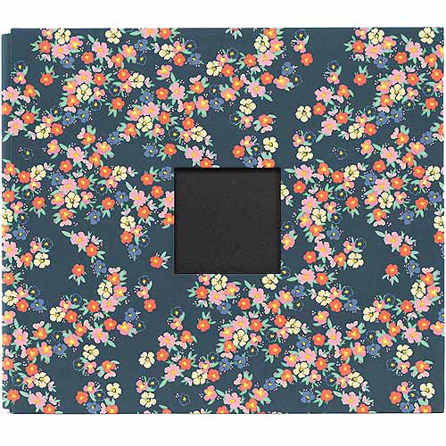 """Dear Lizzy Lucky Charm Cloth D-Ring Album, 12"""" x 12"""", Floral With Window"""