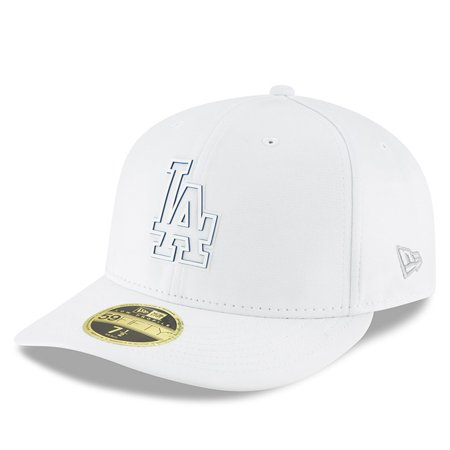 Los Angeles Dodgers New Era 2018 Clubhouse Collection Low Profile 59FIFTY  Fitted Hat - White