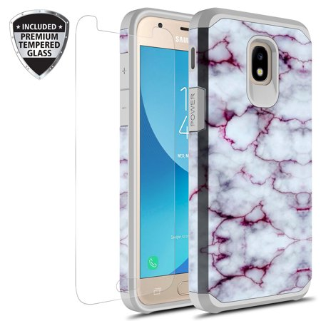 check out f137f f12a9 Samsung Galaxy J3 Achieve Case, J3 Star Case, Galaxy Express Prime 3 Case,  J3 2018 Case, J3 V 2nd Gen. Case, Amp Prime 3 2018 Case With Tempered Glass  ...