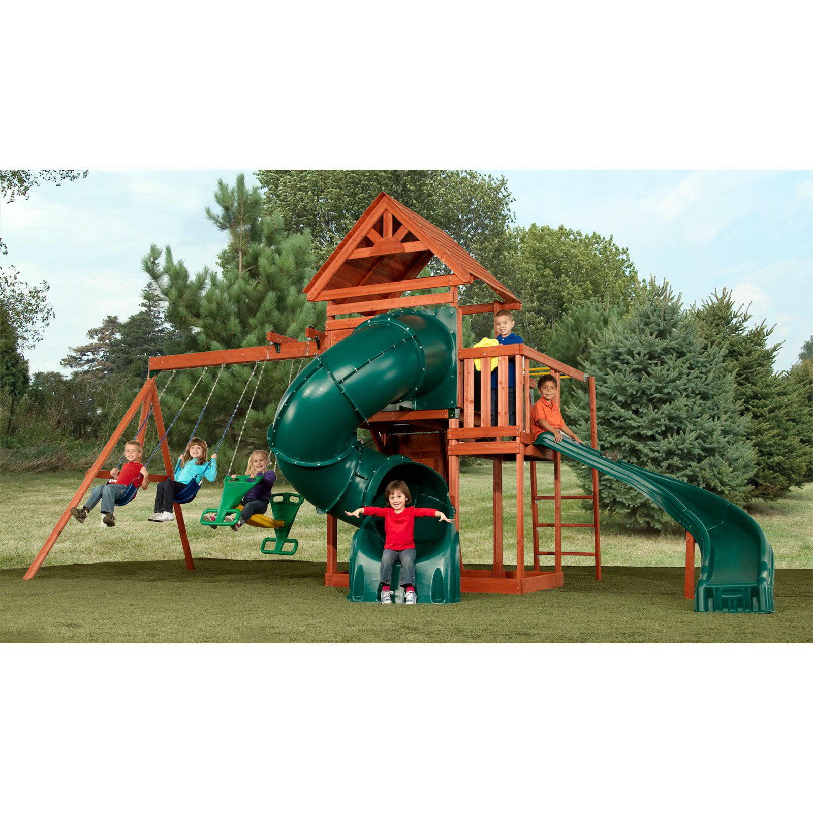 swingnslide grandview twist wood swing set outdoor play backyard playset kids