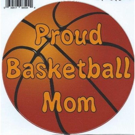 5  X5   Proud Basketball Mom Bumper Sticker Decal Car Window Stickers Vinyl Decals