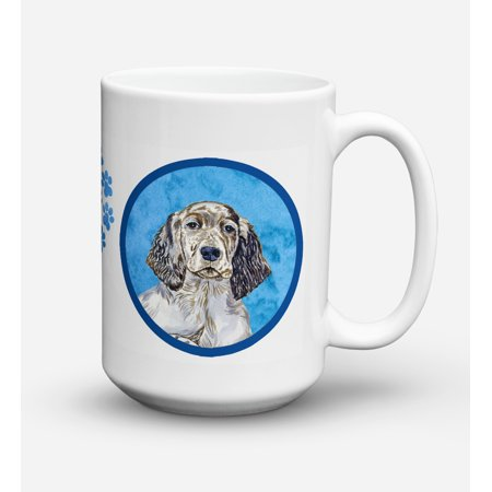 English Setter Dishwasher Safe Microwavable Ceramic Coffee Mug 15 ounce