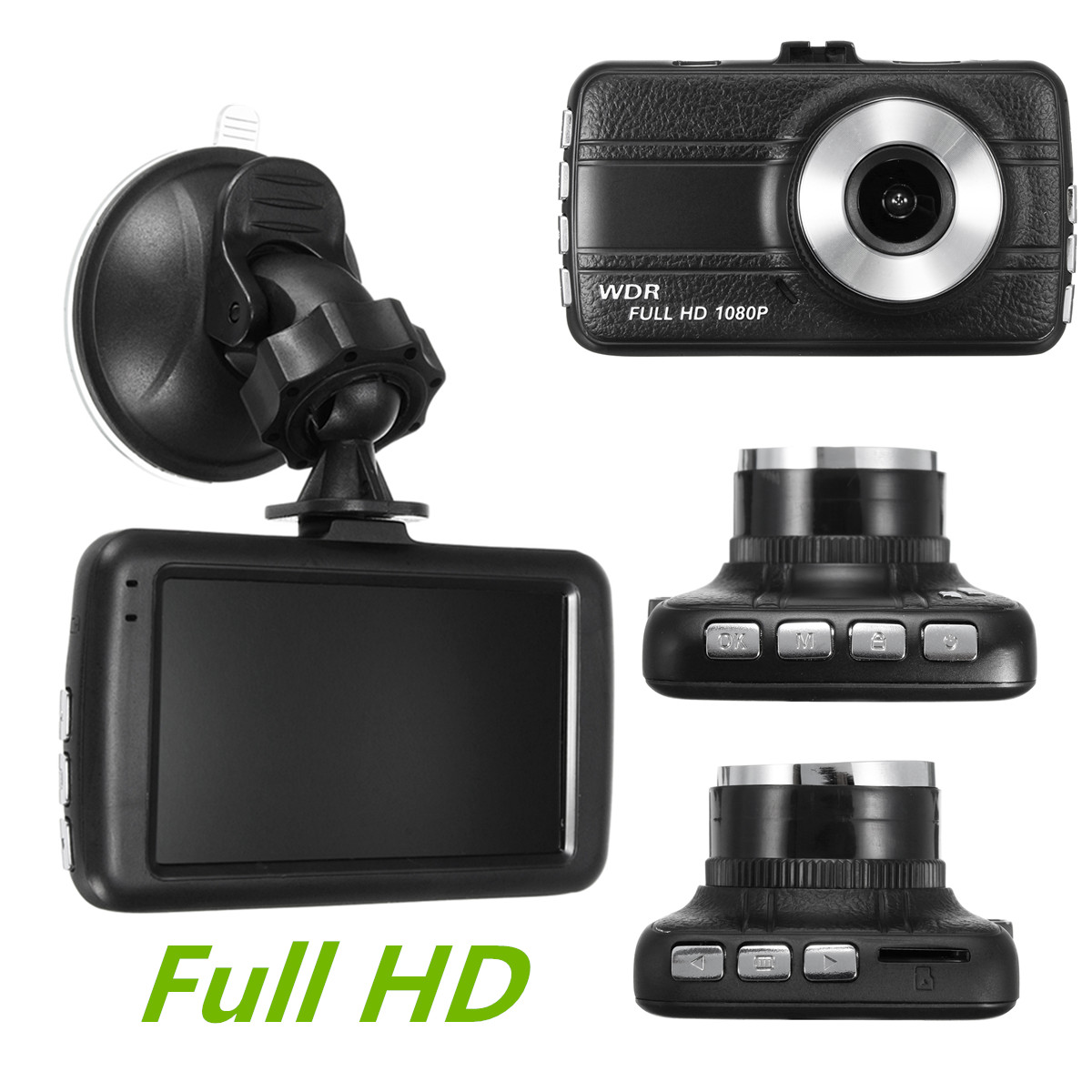 Dash Cam 3''1080P Car Video Recorder DVR Camera with G-Sensor,Motion Detection, Seamless Loop Recording,Microphone