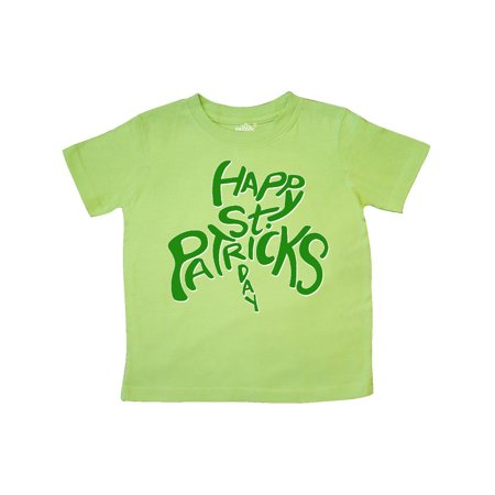 Happy St. Patrick's Day- green shamrock shape Toddler T-Shirt